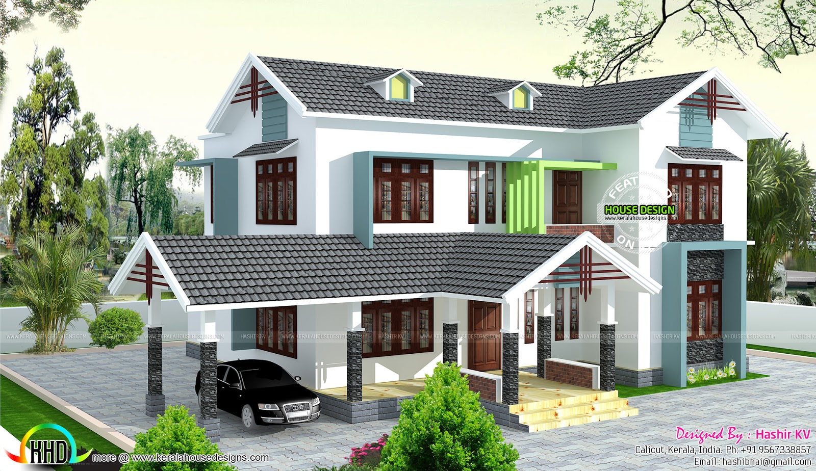 Modern 5 Bedroom House Designs 5 Bedroom House By Hashir Kv Kerala Home Design And Floor Plans