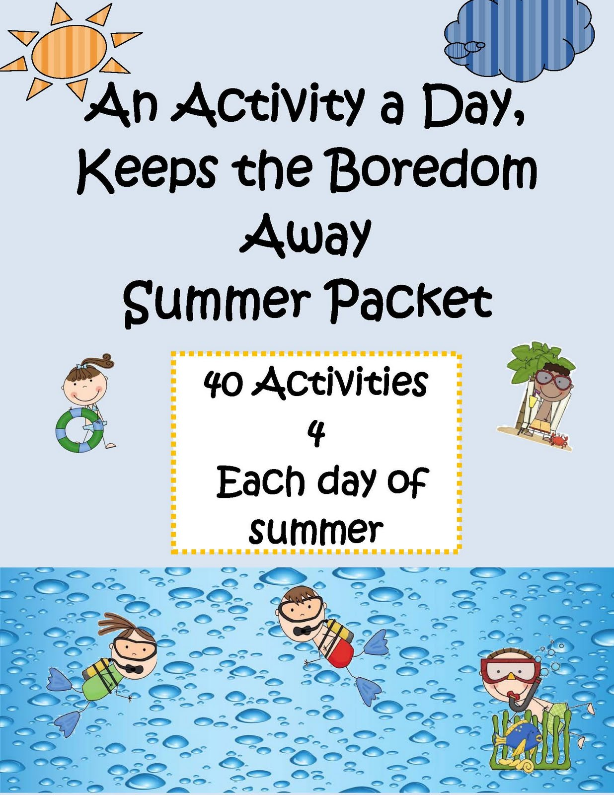 Engaging Lessons And Activities Homeschool Summer Packet
