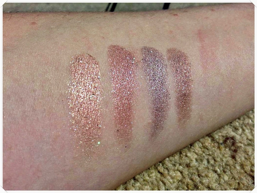 makeup rumours glitz eyeshadow swatches
