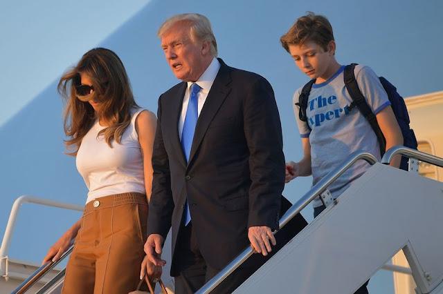 Melania and son Baron Trump finally move into the White House