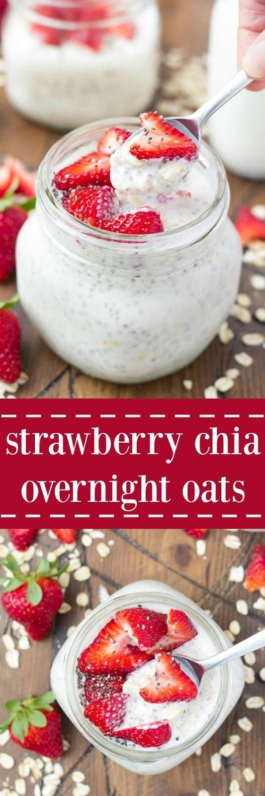 strawberry chia overnight oats