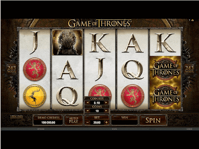 play game of thrones slot game from Microgaming