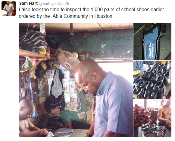 IGBO KWENU!!! SEE THE 'MADE IN ABA' SCHOOL SHOES THAT WILL BE TAKEN TO HOUSTON, U.S.A . (SEE PHOTOS)
