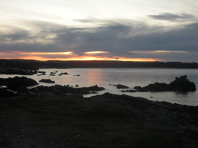 sunset,cullen, bay, scotland, moray firth, skink