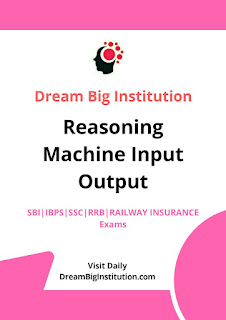 Reasoning Machine Input-output Practice Set- Dream Big Institution