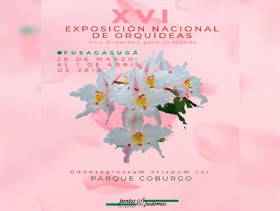 """Exposición Nacional de Orquídeas, """"Una orquídea para el mundo"""""""