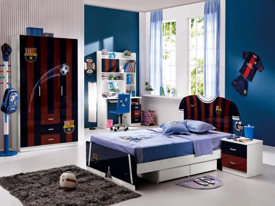تصميمات رياضية لغرف نوم الشباب