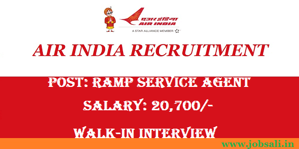 Air India Recruitment 2016 – Walk in Interview for Service Agent, Air India Jobs