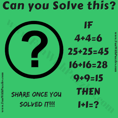 It is logical Math Number Problem in which one has to decode the logical pattern in given Maths equations and then solve the last equation.