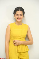 Taapsee Pannu looks mesmerizing in Yellow for her Telugu Movie Anando hma motion poster launch ~  Exclusive 089.JPG
