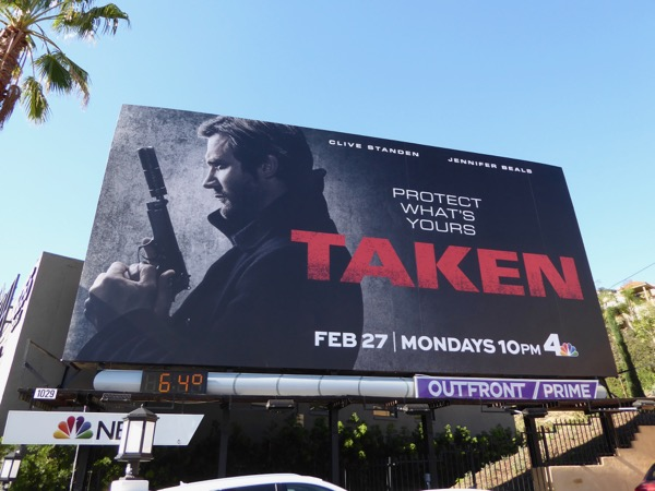 Taken TV prequel series billboard