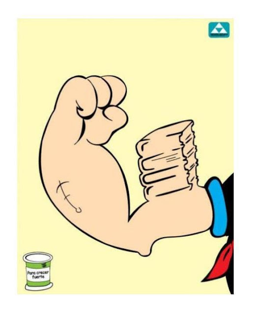 Meme de humor sobre Popeye y los libros