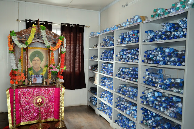 Water bottles kept in Baba Harbhajan Singh Mandir, Sikkim