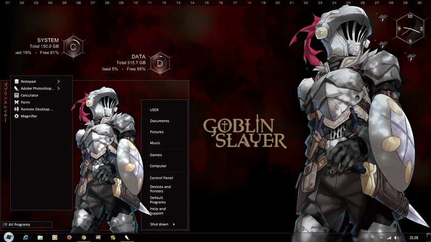 Theme Anime Windows 7 Goblin Slayer