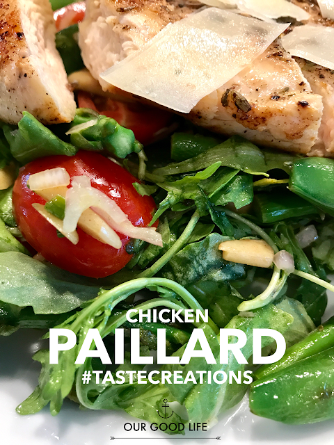 Chicken Paillard with Spring Green Salad