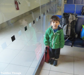 Toddler at the airport