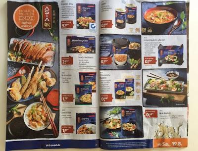 Aldi verkauft einige asiatische Gerichte und Non Food