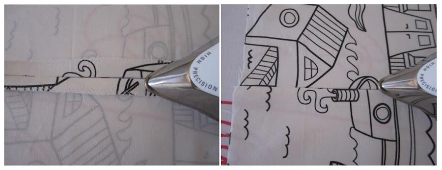 mis nancys, mis peques y yo, tutorial funda de cojin planchar costura