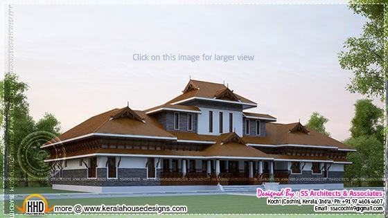 February 2014 kerala home design and floor plans for Kerala style homes plans free