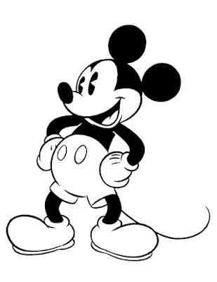 Gambar Mewarnai Mickey Mouse - 7