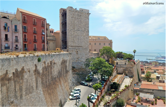 Les muralles de Càller i la torre de l'Elefant