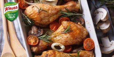 دبابيس الدجاج بالتوابل والثوم