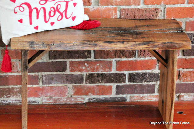 Rustic Reclaimed Live Edge Bench