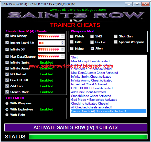 The Saints Row 4 Cheats Xbox 360 Unlimited Clusters {Forum Aden}