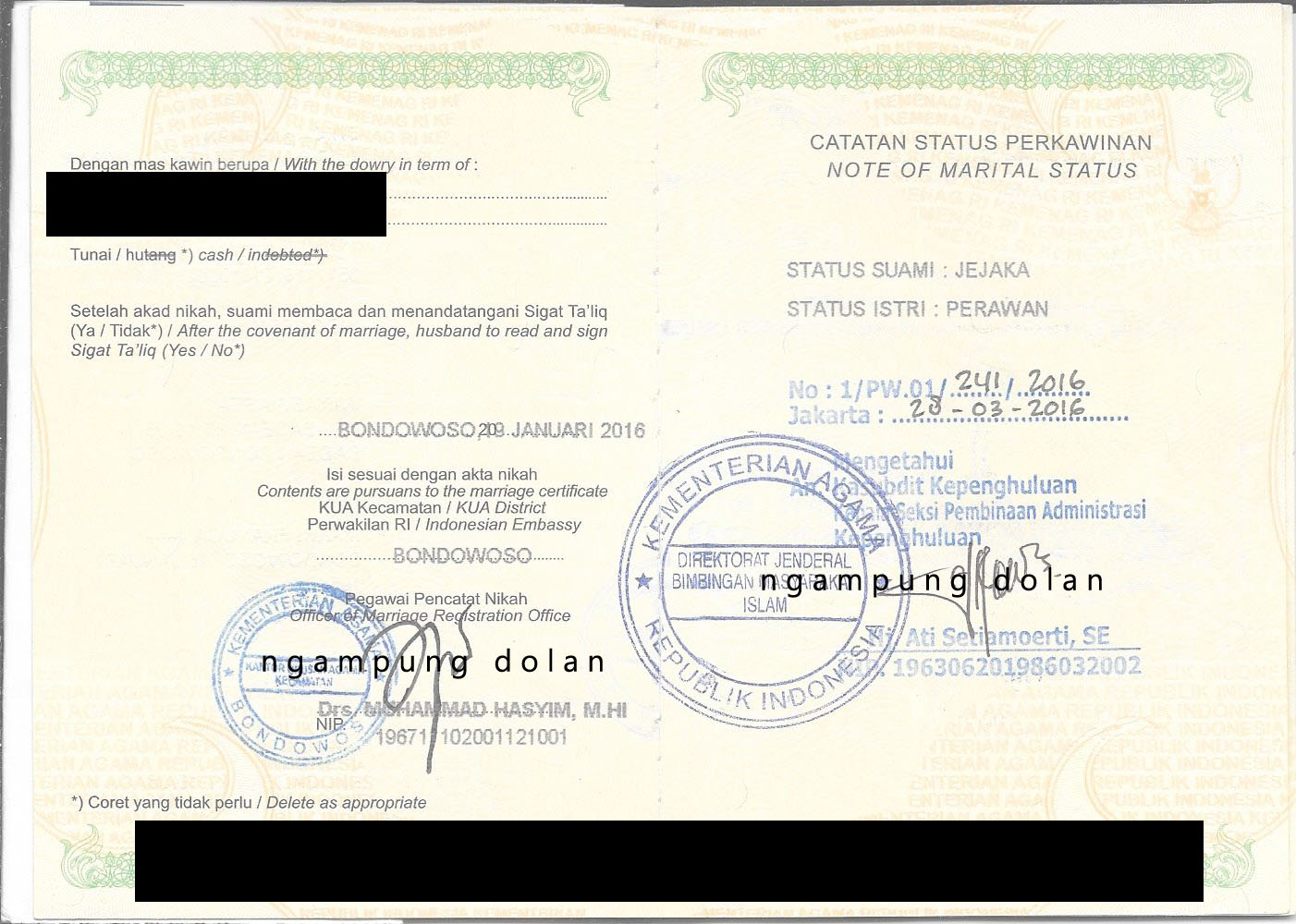 Akte kelahiran untuk pengajuan visa mvv spouse terbaru ngampung legalisir buku nikah di kemenag jakrat aiddatafo Choice Image