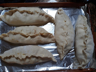 photo of filled and folded pasties