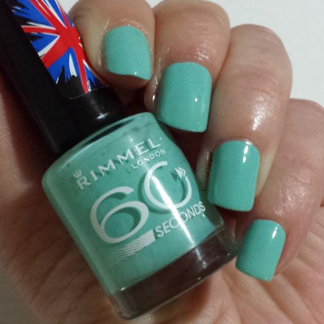 Mintilicious-Rimmel-mint-green-creme-nail-polish
