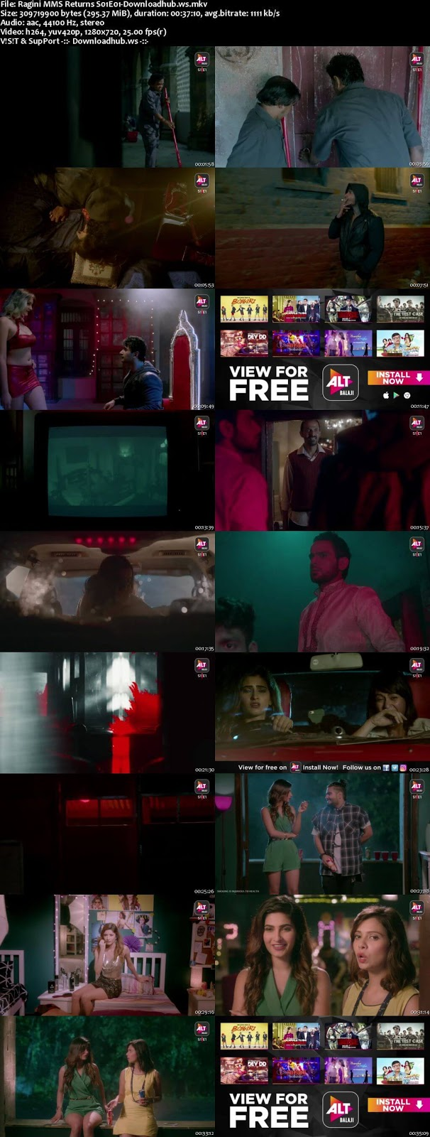 Ragini MMS Returns Hindi Season 1 Complete 720p HDRip x264