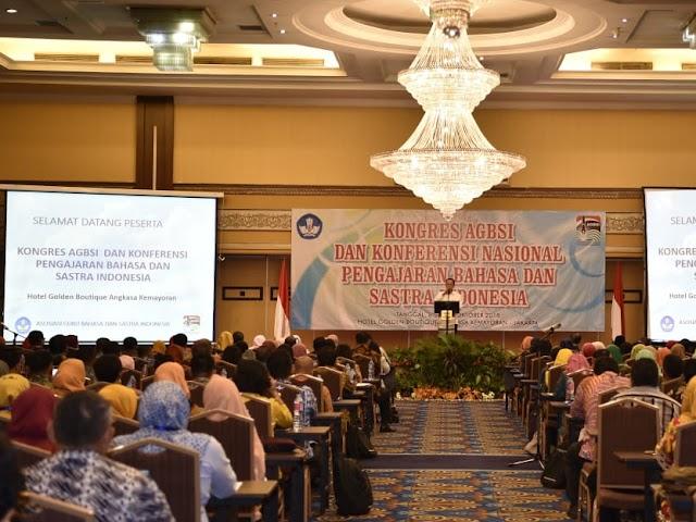 Kongres Asosiasi Guru Bahasa dan Sastra Indonesia 2018 Digelar di Jakarta