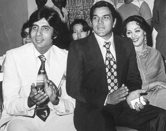 Unseen Old Photo: Big B & Dharam Paji with Hema Ji