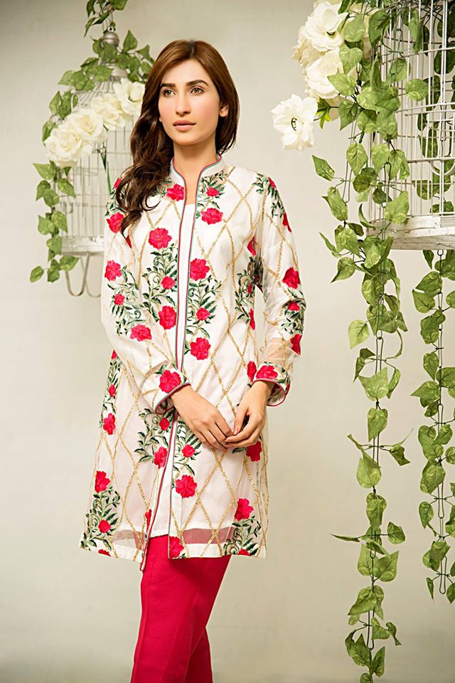 Zainab Hasan Eid Collection 2015 Short Coat Dresses | Breaking