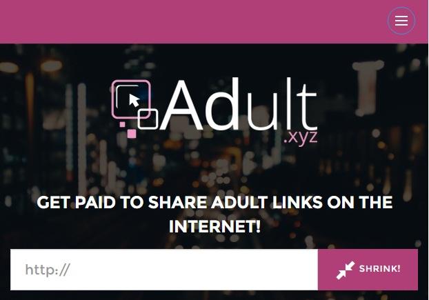 Rút gọn link kiếm tiền uy tín chấp nhận site người lớn với adult.xyz