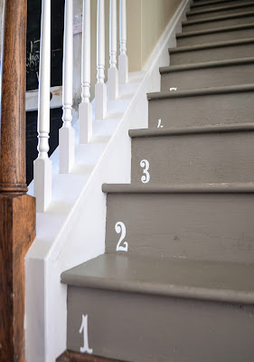 Down To Earth Style Numbered Stairs