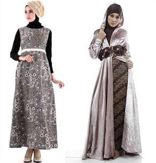 Model dres batik pesta muslimah