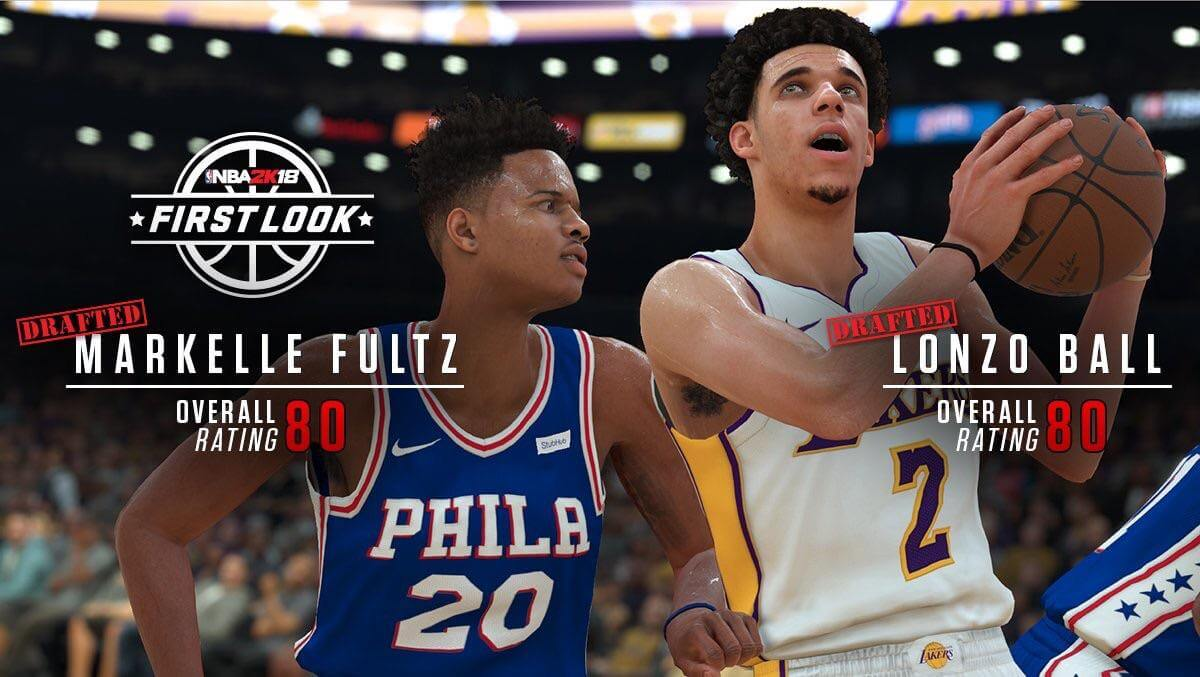 NBA 2K18 Screenshot - Markelle Fultz and Lonzo Ball