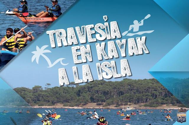 Travesías a la isla Gorriti en kayak (Maldonado, 1ª: dom 20/ene/2019)
