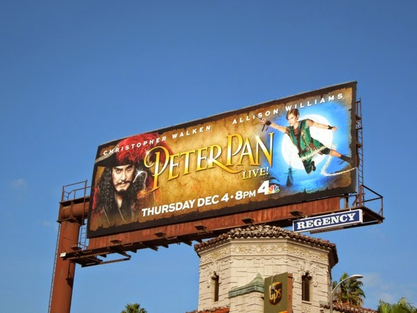 Peter Pan Live billboard