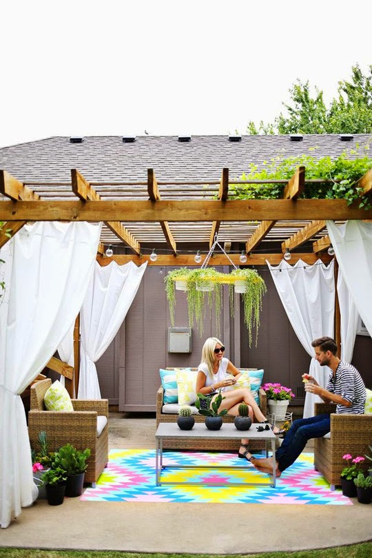 a beautiful mess cool patio spaces