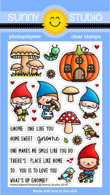 Sunny Studio Stamps: Home Sweet Gnome 4x6 Clear Photopolymer Stamp set