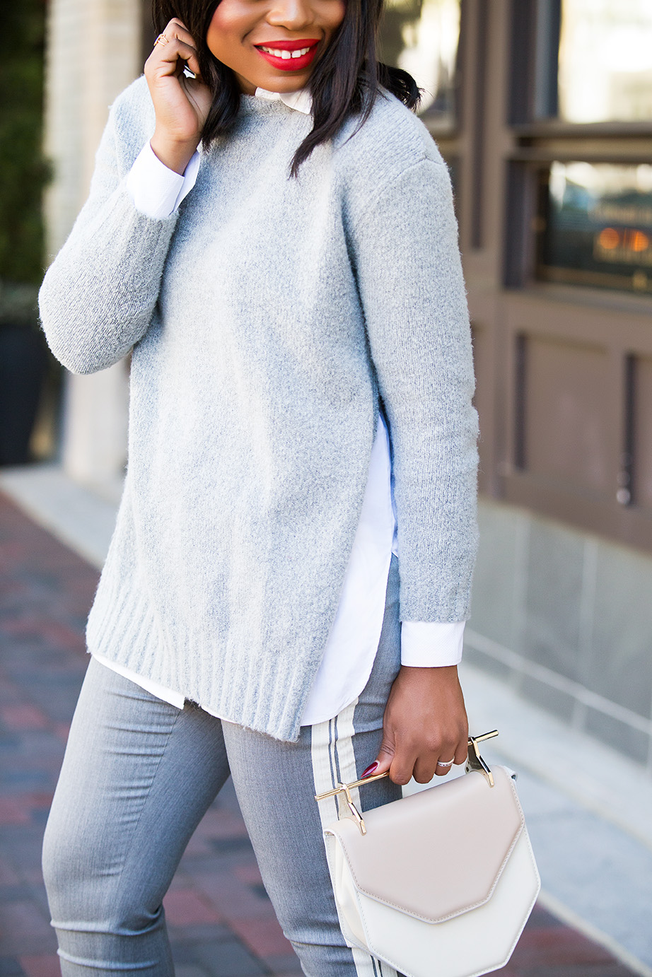 work style tips, grey sweater, www.jadore-fashion.com
