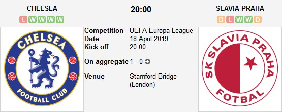 مباراة تشيلسي و سلافيا براغ بث مباشر 18/04/2019 الدوري الأوروبي