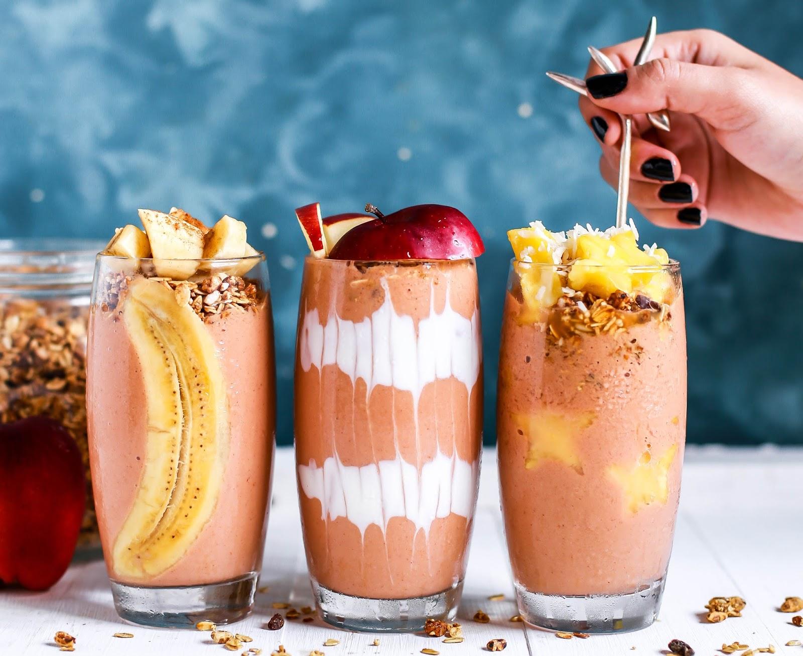 Apple, banana and cinnamon smoothie
