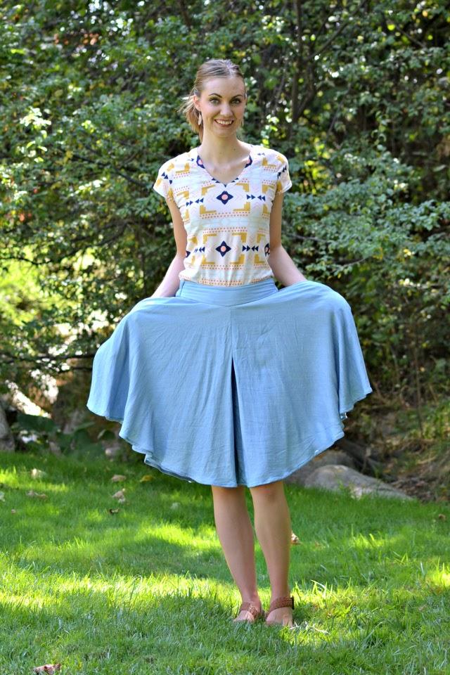 Me Made: Modal Chambray Tania Culottes