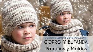 Patrones de Gorro y Bufanda Dos Agujas para Niños con Explicaciones en Español