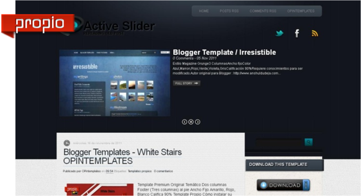 free blogger templates with slider opintemplates blogger templates active slider opintemplates
