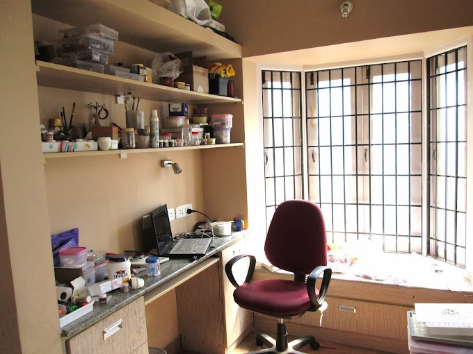 "Sharyl's "" Clean-up, Fix Up Your Work Space"" Challenge and Blog Hop - Only the 'before' pics"
